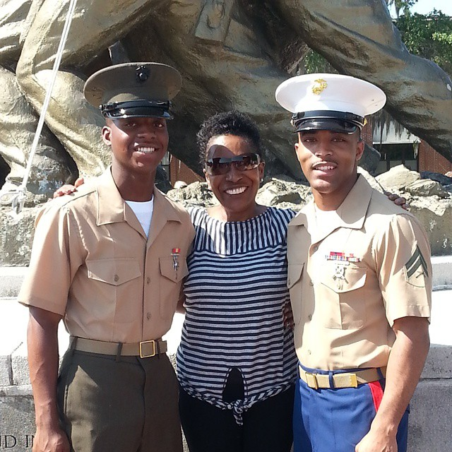 My mom's a proud grandma of two Marines.